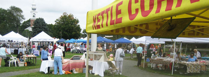 kettle corn tent at a craft show